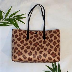 Kate Spade New York cheetah leopard print tote